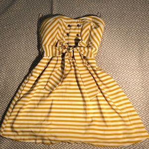Yellow and white striped sailor dress ⛵️